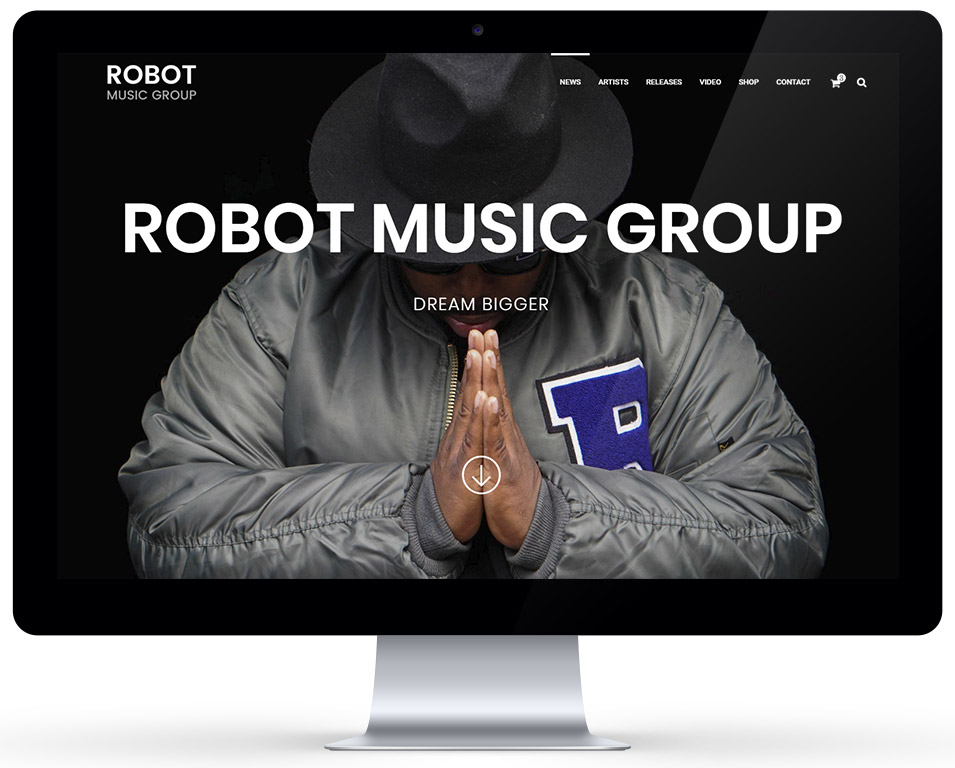 Robot Music Group - frontpage