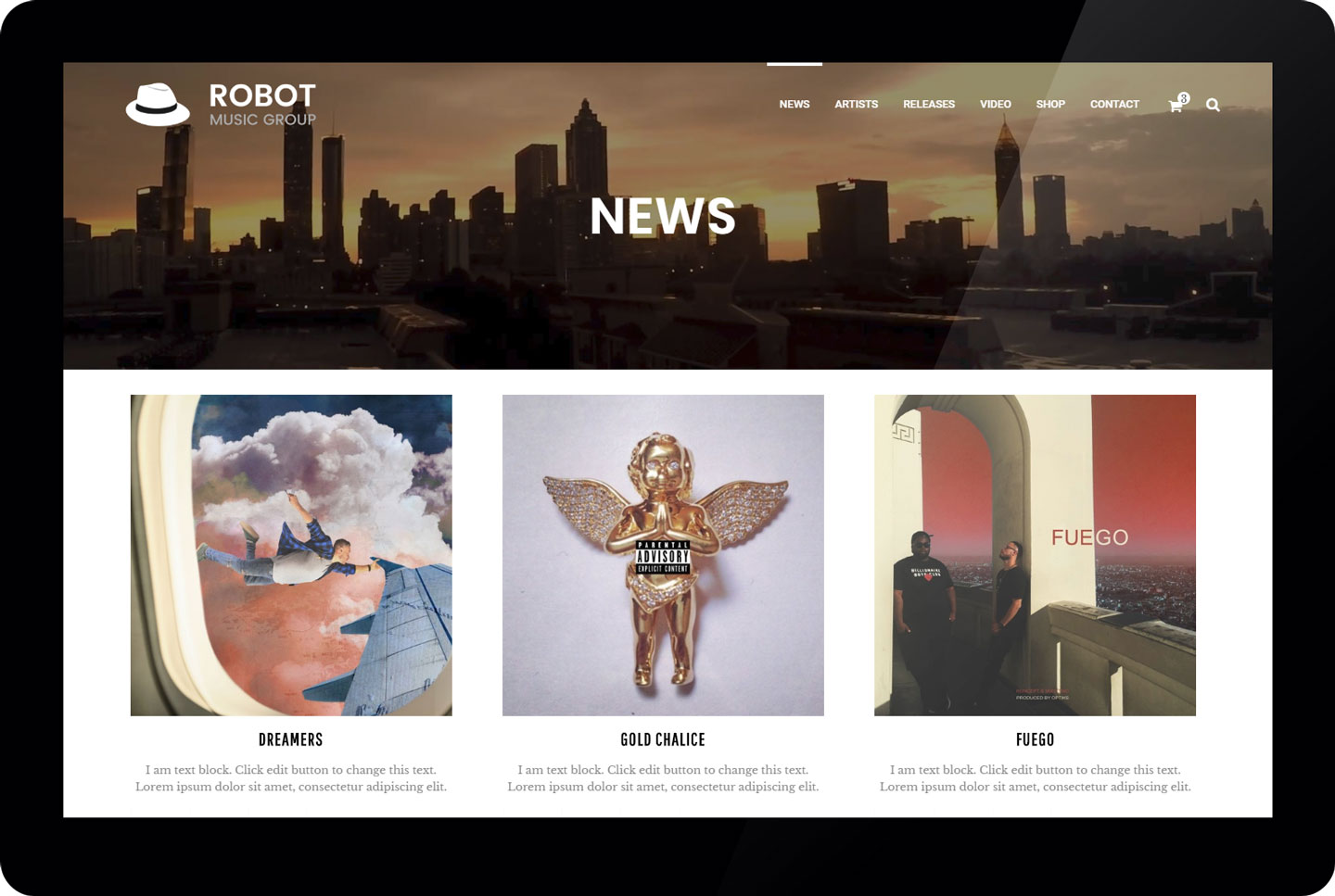 Robot Music Group - news