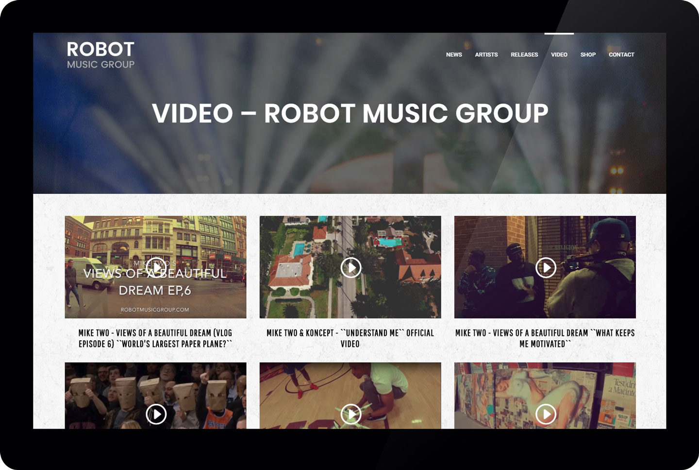 Robot Music Group - video